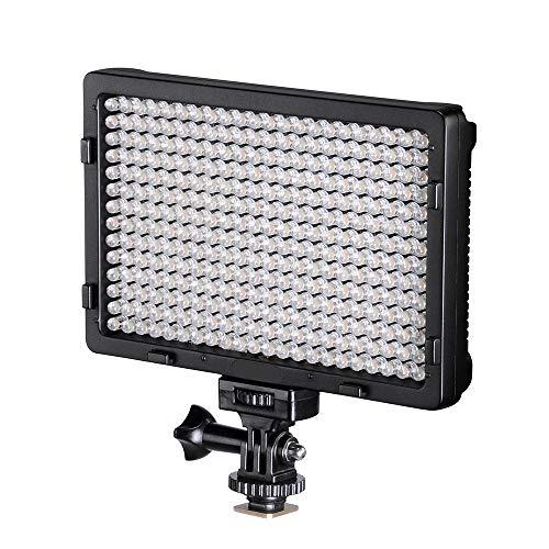 TOLIFO Photo Studio 308B LED Ultra Bright Dimmable On Camera Video Light for Canon,Nikon,Pentax,Panasonic,Sony,Samsung,Olympus and Other Digital SLR Cameras(PT-308B)
