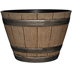 GARDENGOODZ Whiskey Barrel Planter, Distressed Oak, 15""