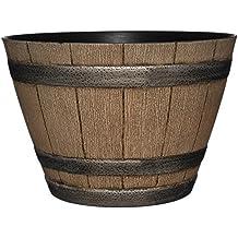 "Whiskey Barrel Planter, Distressed Oak, 15"""