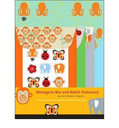 [(Menagerie Mix and Match Stationery )] [Author: Anvil Modern Paperie] [Sep-2007]