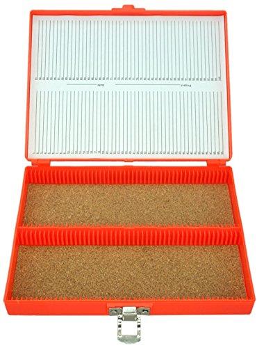(100pc Microscope Slide Storage Box, Orange)