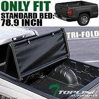 Topline Autopart Tri Fold Soft Vinyl Truck Bed Tonneau...
