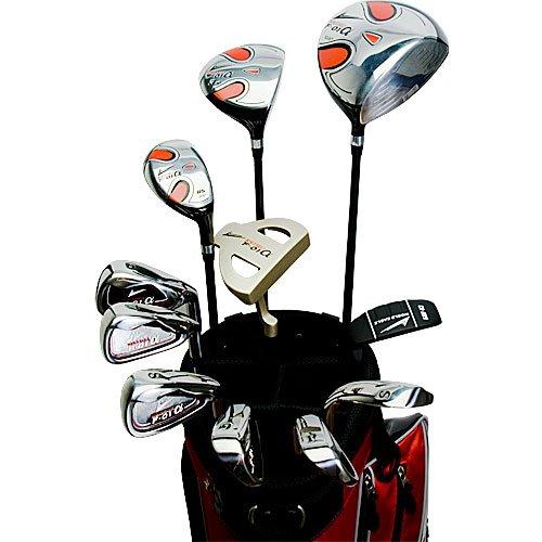 ワールドイーグル F-01α メンズ ゴルフ クラブ フルセット レッド バッグver.【右用】 フレックスS WE-J-F-01-MRH-RD B00JM3BT1U