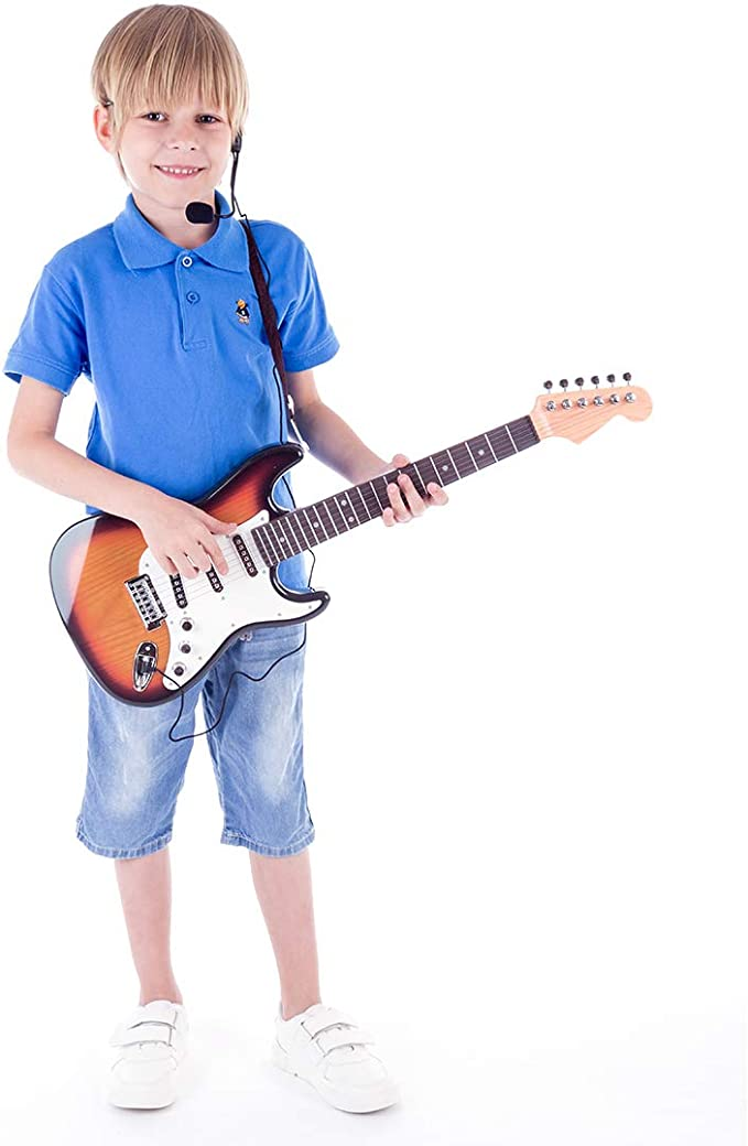 MRKE Guitarra Electrica Niños con Microfono Amplificador 66cm 6 ...
