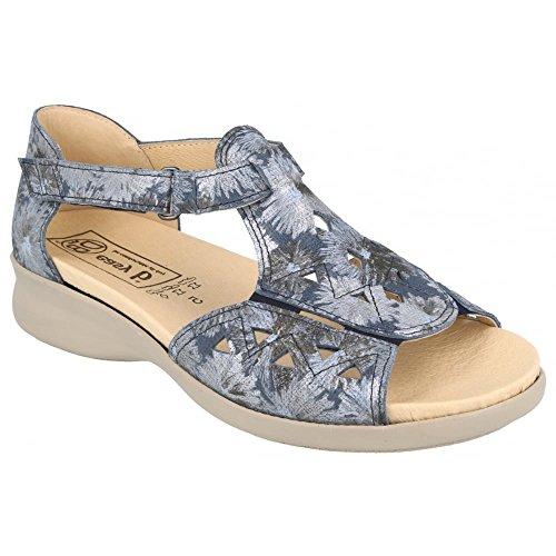 Easy EE Floral T 2V Birch DB 78530N Womens Bar B Blue Sandals 4E 1wd78qU