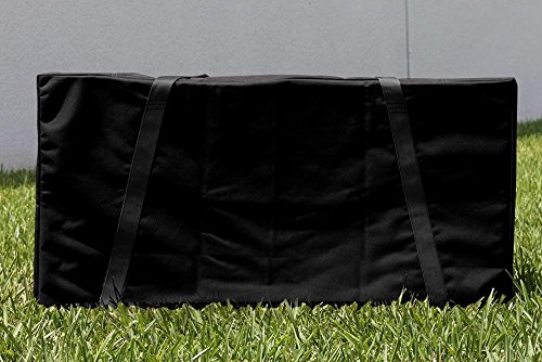 Victory Tailgate Black With Black Straps Cornhole Carrying Case (Full Size For Two 24x48 Boards) by Victory Tailgate