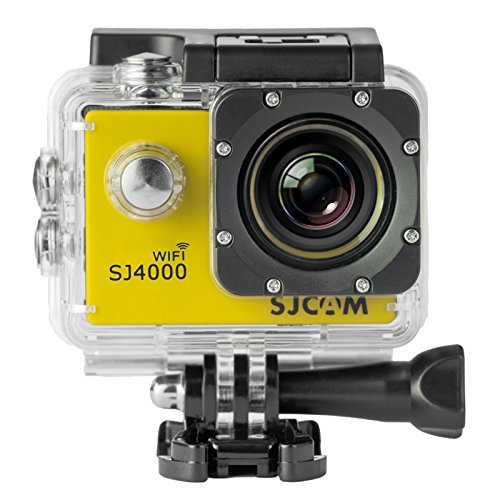 SJCAM Original SJ4000 WiFi Version Full HD 1080P 12MP Diving Bicycle Action Camer a 30m Waterproof Car DVR Sports DV wit h Waterproof Case (YELLOW)