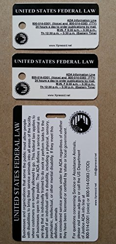 Holographic Service Dog ID + 2 Key Tags | Includes Registration to National Dog Registry by Xpress ID (Image #2)