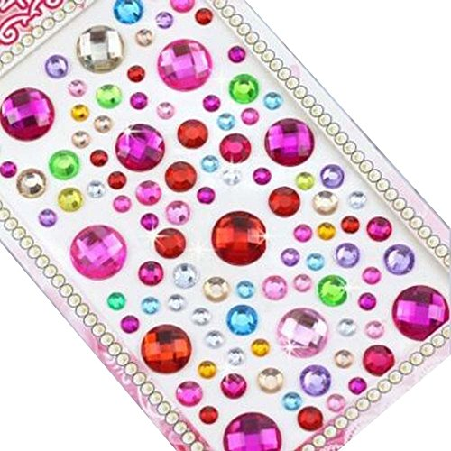 4 Sheets Acrylic Rhinestone Stickers DIY Crafts Stickers, Circular