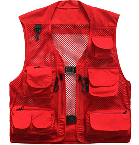 Red 4 Buckle Vest - 4