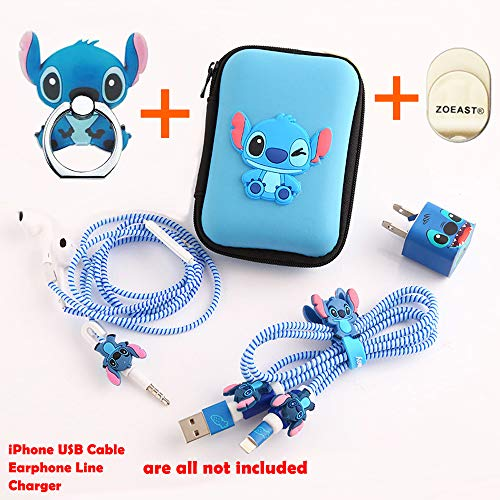 Apple Data Cable ZOEAST(TM) DIY Protectors USB Charger Data Line Earphone Wire Saver Protector Compatible iPhone 5 5S SE 6 6S 7 8 Plus X IPad iPod iWatch (Upgrade Styles, Stitch) (Ipod 4 Stitch Case)