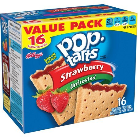 Kellogg's Strawberry Pop-Tarts Toaster Pastries, 16 ct - Pack of 4 by Pop-Tarts