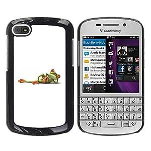 Paccase / SLIM PC / Aliminium Casa Carcasa Funda Case Cover para - White Frog Titanic Posing Minimalistic Cute - BlackBerry Q10