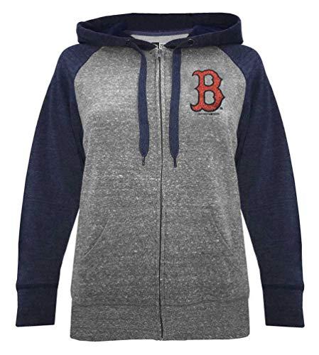 New Era Boston Red Sox Women's MLB Double Tri-Blend Hooded Sweatshirt Boston Red Sox Hooded Sweatshirt