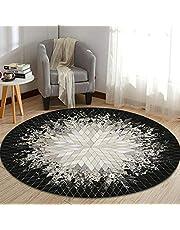 Ronde stoelmat, vloerkleed van hoge kwaliteit, gemakkelijk schoon te maken, stevige(100cm in diameter)