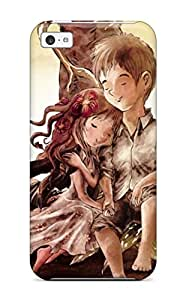 Hot Tpu Cover Case For Iphone/ 5c Case Cover Skin - Romantic Boy Girl Painting