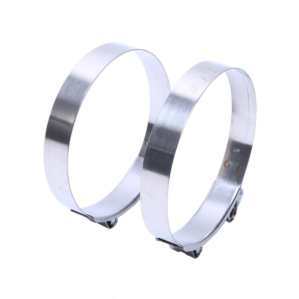 HiwowSport Stainless Steel T-Bolt Clamp for Turbo Silicone Intercooler Hose 4.0 108-116MM