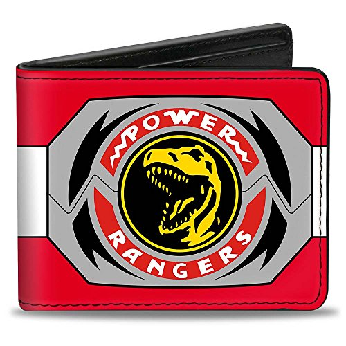 Buckle-Down Men's Wallet Power Rangers Red Ranger Tyrannosaurus Rex Morpher Accessory, -Multi, One Size