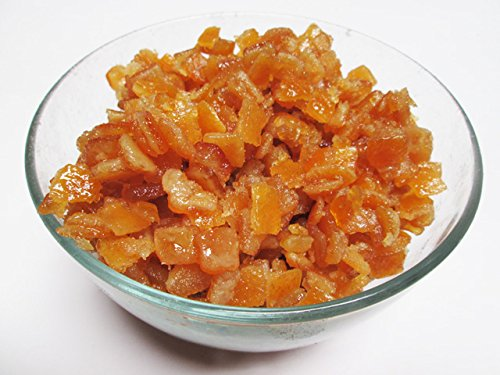 Candied (Glazed) Orange Peel Dices. 3 pound bag