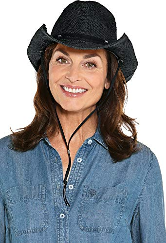 Coolibar UPF 50+ Women's Laurel Canyon Cowboy Hat - Sun Protective (One Size- Black) ()