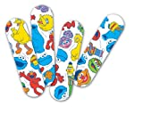 "Curad NON47070 Sesame Street Adhesive Bandages, 3/4"" x 3"", Cartoon (Pack of 1200)"