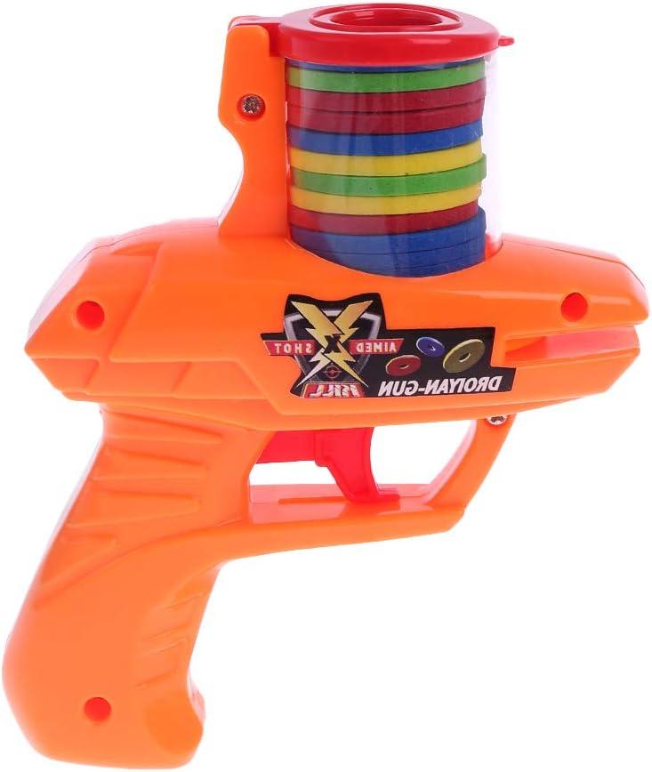 KERDEJAR, Pistolas clásicas de platillo Volador para niños, 15 Balas Suaves de EVA, Juguetes para Fiestas al Aire Libre, niños