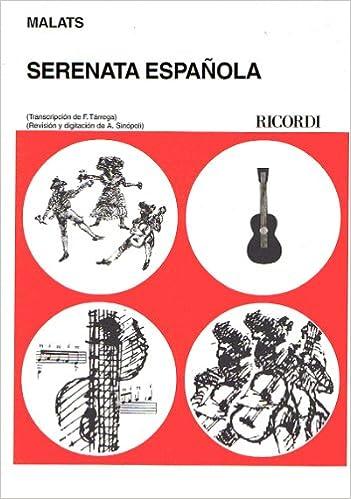 MALATS - Serenata Española para Guitarra Tarrega/Sinopoli: Amazon ...