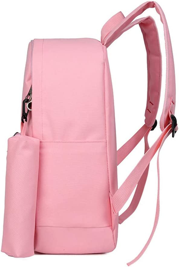 Color : Black MAODATOU Canvas Laptop Backpack Set Cartoon Bear Design 3 Pcs Girls Backpack Sets Pack of 3 Pcs Students Backpack Bookbag Canvas School Bags Canvas School Backpack 3Pcs