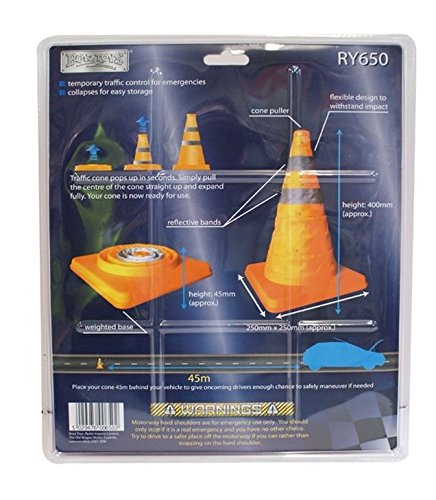AQS Folding Pop-Up Multipurpose Emerging Traffic Cone Roadside Emergency Safety x 2