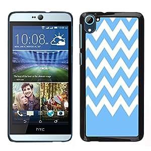Dragon Case - FOR HTC Desire D826 - Blue and white stripes - Caja protectora de pl??stico duro de la cubierta Dise?¡Ào Slim Fit