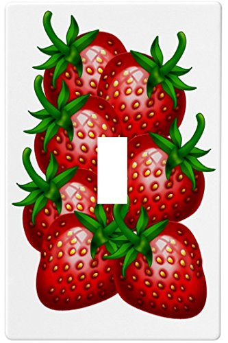 Single Strawberry Fruit Wallplate Decorative Switch Plate Cover (1 Gang - Sin...