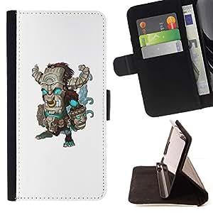 Momo Phone Case / Flip Funda de Cuero Case Cover - Monstre de Frankenstein Monstre - Sony Xperia M2