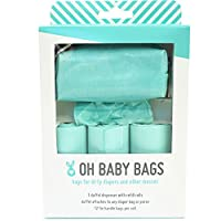 Oh Baby Bags Diaper Bag Clip-On Dispenser Gift Box with Disposable Bags for D...
