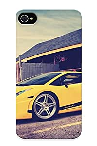 Iphone 4/4s Case Cover - Slim Fit Tpu Protector Shock Absorbent Case (cars Lamborghini Vehicles )