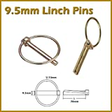 Linch Pins 9.5mm Securing Pins for JCB Buckets Plant Tractors Long Pin Length 70mm Ring 73mm Zinc Coated For Corrosion Protection Lynch Fastener Trailers Plant Agricultural Machinery by linchpin