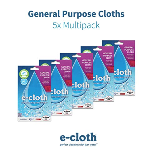 E-Cloth General Purpose Cloth-5 Pack, Multi, 32x32cm