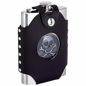 BNF KTFLSKSW Skull & Cross Bone Flask, 8 oz