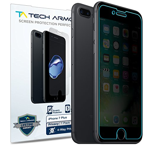 Tech Armor 4Way 360 Degree Privacy Apple iPhone 7 Plus/ iPhone 8 Plus (5.5-inch) Film Screen Protector [1-Pack] for Apple iPhone 7 Plus/ 8 Plus