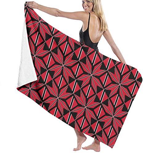 (KUYTZDCUTE Bath Towels Trinidad and Tobago Flag Artascope Flower Multi-Purpose Beach Towel Oversized 52