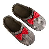 Doctor Who Mens 11th Doctor Slippers w/ Bow Tie (Brown Plaid, XL, 13-14)