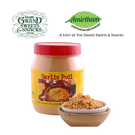 The Grand Sweets and Snacks Chennai Adyar Garlic Podi, 400 g