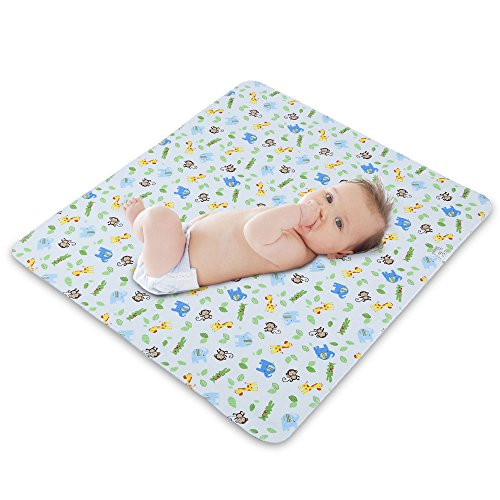 ZEFER Waterproof Reusable Changing Pad Baby Changing Mat for Diaper Change Portable Changing Pad for Baby Boys Girls