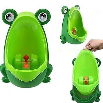 Gespout urinarios masculinos para verde infantil rana pl/ástico f/ácil de utilizar de altura ajustable diferentes colores, color naranja 30x21x17cm