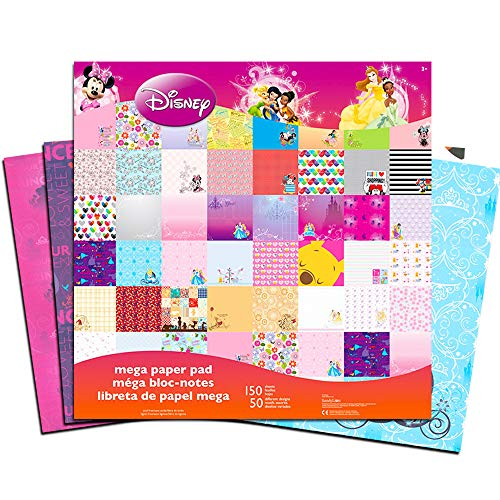 (Disney Assorted Scrapbooking Paper Value Pack,100 Sheets (12