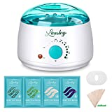 #4: Lansley Wax Warmer Hair Removal Home Waxing Kit Electric Pot Heater for Rapid Waxing of All Body, Face, Bikini Area, Legs with 4 Flavor Hard Wax Beans & 10 Wax Applicator Spatulas(At-home Waxing)