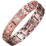 Kyпить VITEROU Mens 99.95% Pure Copper Magnetic Therapy Bracelet with High Powered 5MM XL Magnets for Arthritis Pain Relief,3500 Gauss,8.5 Inches на Amazon.com