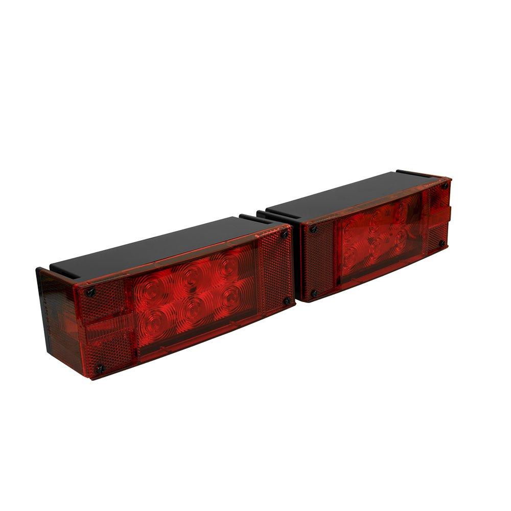Blazer C7280 Led Rectangular Low Profile Submersible Test Trailer Lights Wiring Harness Bulb Light Kit Automotive