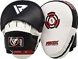 mma target - RDX Boxing Hook & Jab Pads MMA Target Focus Punching Mitts Thai Strike Kick Shield, White