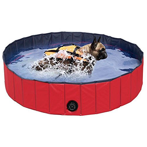 Yaheetech 32inch.D x 8inch.H Pet Swimming Pool Foldable Bathtub Dog Cats Washer by Yaheetech (Image #7)