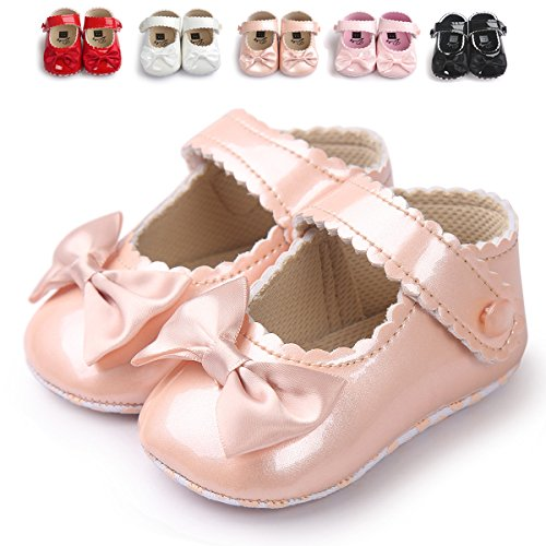 (Sabe Infant Baby Girls Soft Sole Prewalker Crib Mary Jane Shoes Princess Light Shoes (11cm(0-6 month),)